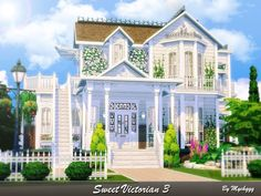 Lot: Found in TSR Category 'Sims 4 Residential Lots' The Sims 4 Lots, The Sims 4 Pc, Sims Cc, Sims 4 House Plans, Sims 4 House Building, Casas The Sims 3, Sims 4 Houses Layout, Sims 4 House Design, Cute House