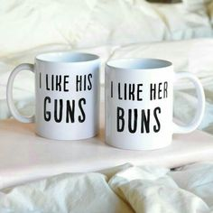 I Like is Buns and I Like Her Guns Couples Coffee Mugs - Fit Couple Gift Idea - Tap the pin if you love super heroes too! you will LOVE these super hero fitness shirts! Paar Workout, Coffee Cups, Tea Cups, Coffee Maker, Couples Coffee Mugs, Fit Couples, Fitness Couples, Couples Humor, Fitness Gifts