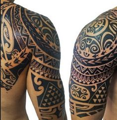 polynesian-half-sleeve-tattoo #maori #tattoo #tattoos