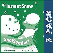 SnoWonder Instant Artificial Snow – Bonus Projects eBook – Home Decor – Party Packs – Classroom…