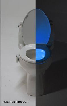 The GlowBowl will transform ANY toilet into a nightlight. No more missing your target or stumbling around in the dark in your bathroom – The GlowBowl is motion activated, light-sensitive and solves all these night time bathroom problems. With the touch of a button, you get your choice of seven different colors in one device: blue, purple, aqua, yellow, red, white or green. #Gadgets #CoolThings #Nightlight #Bathroom #GiftIdeas