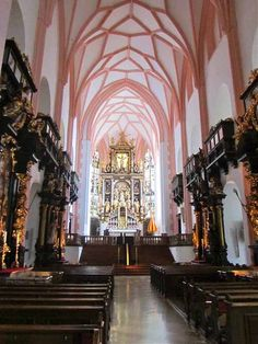 """'Sound of Music' Cathedral - Mondsee, Austria - and YES I hummed """"How do you solve a problem like Maria"""" while walking down that aisle Places Around The World, Oh The Places You'll Go, Places To Visit, Around The Worlds, Beautiful Buildings, Beautiful Places, Europe Holidays, Salzburg Austria, Voyage Europe"""