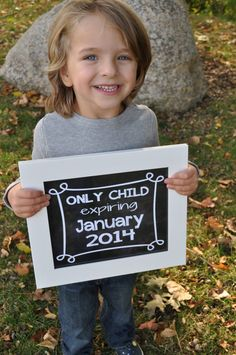 Only child expiring, chalkboard printable, pregnancy announcement