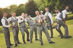 Groomsmen photography, funny, poses ideas Lisa Karr Photography, Beloit Wisconsin, Find on Facebook