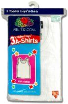 Fruit of the Loom Boys 2-7 Toddler A-Shirt 3-Pack