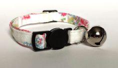 Cat Collar  Handmade  Cath Kidston Rose by ItsAlicesImagination