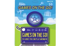 Games On The Go! :  Turn family road trips and moments of down time into great family fun. Games on the Go is a collection of 50 games and activities that can be played anywhere at any time. No materials are required…just your family's ideas and imagination. The collection includes guessing games, word games, memory challenges, trivia, searching games and much, much more.
