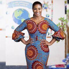 Latest Ankara Fashion Dresses For Wedding Guest Ankara Dress Styles, Trendy Ankara Styles, African Print Dresses, African Print Fashion, Africa Fashion, African Dress, African Wear, Kente Styles, Ankara Gowns