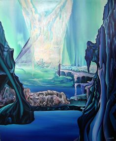 Gate of dimensions I. Size: 150 x 120 cm, oil on canvas