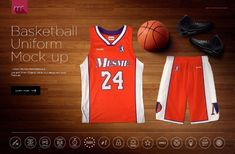 Basketball Uniform Mock-up PSD Mockup Best Basketball Shoes, Basketball Uniforms, Basketball Camps, Basketball Leagues, Basketball Legends, Basketball Sneakers, Xavier Basketball, Basketball Hoop, Basketball Birthday