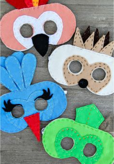 Wacky Wild Felt Animal Masks