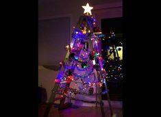 Sapin de Noel en Escabeau