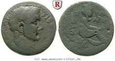 RITTER Kappadokien, Caesarea, Claudius I., Tyche, Flußgott #coins