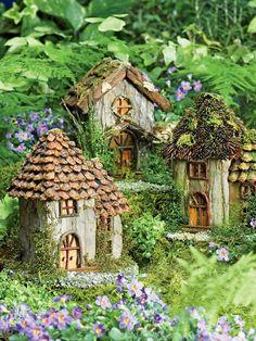 Fairy Houses for the Garden | Fairy Houses Set - Fairy Garden ...