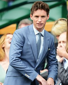 Eddie Redmayne - Celebrities at Wimbledon 2013 - What's Right Now - Fashion - InStyle