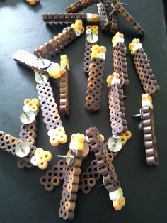 Minecraft Torches  Handmade Thumbtacks by MixedAndMarbled on Etsy, $1.50