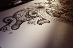 Nautical Tattoo design, the kraken within the deep sea and Poseidon from Dark Design Graphics #tattoo #customtattoodesign #darkdesigngraphics #poseidontattoo #krakentattoo #thekraken #tallship #fullsleeve