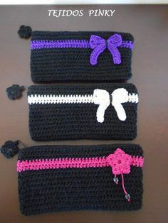 cartuchera a crochet - Google Search