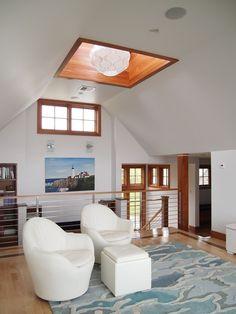 Home on the coast of Maine - modern - family room - portland maine - Dale Kolbeck, Architect