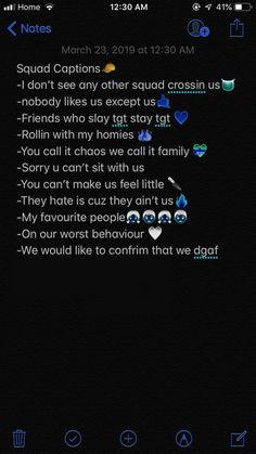 Bio Instagram, Instagram Captions For Friends, Instagram Quotes, Funny Captions For Friends, Deep Instagram Captions, Badass Captions, Lit Captions, Selfie Captions, Group Captions