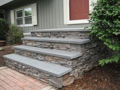 Blue Stone And Brick Steps Bluestone Treads And
