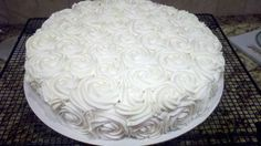 Thank you, Pinterest, for the lovely inspiration for my grandma's 80th birthday cake.
