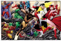 Illustration and Photography: Colouring John Byrne - The Avengers vs Magneto