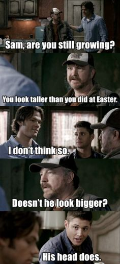 Ahahah :D Yeah, it seems so! Dean and Bobby look like midgets compared to him! xD