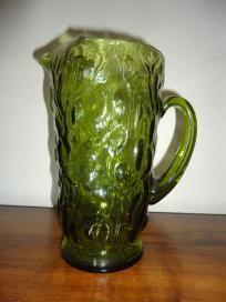 Vintage Bryce Glass 1960s El Rancho Green GlassPitcher