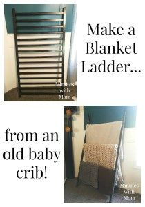 Make a Blanket Ladder from an Old Baby Crib in just 30 minutes! - Baby Cribs , Make a Blanket Ladder from an Old Baby Crib in just 30 minutes! Make a Blanket Ladder from an Old Baby Crib in just 30 minutes! Build it YOURSELF! Old Baby Cribs, Baby Crib Diy, Old Cribs, Baby Nursery Diy, Nursery Ideas, Baby Room, Baby Bassinet, Project Nursery, Nursery Inspiration