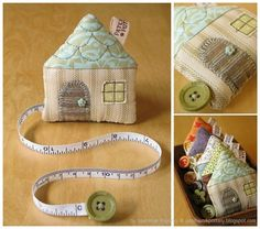 ~ Lovey handy tiny house ~ House Tape Measure by Laurraine Yuyama - patchworkpottery blogspot