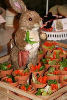 e227f50be love the little planters for veggies and MUST be watching for a bunny to  place on