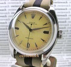 Vintage-1952-Rolex-Perpetual-Big-Bubbleback-Pre-Explorer-6098-Original-Dial