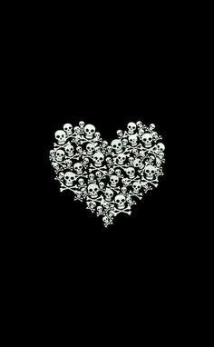 Skull Crossbones Heart