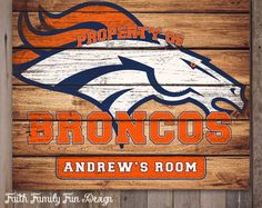 Have your own customized Denver Broncos sign hanging in your office 76cf6faf3266a