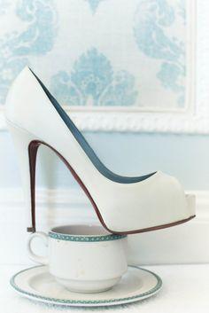 Like the peep toe...dark bluenail polish?