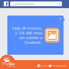 Cada 20 minutos. #ProAlea #Marketing #SocialMedia #Facebook