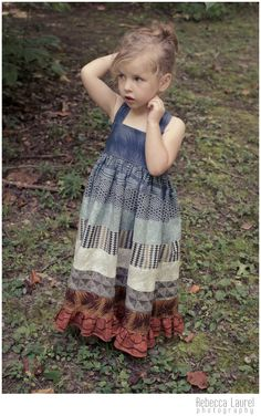 Fire and Ice Maxi Dress using Curious Nature and Seven Wonders by Parson Gray Little Girl Dresses, Nice Dresses, Little Girls, Flower Girl Dresses, Summer Dresses, Maxi Dresses, Free Spirit Fabrics, Handmade Skirts, Fire And Ice