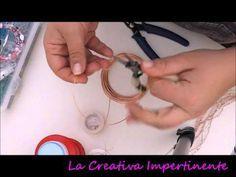 Tutorial Wire Crochet: collana uncinetto e filo metallico   wire crochet necklace - YouTube