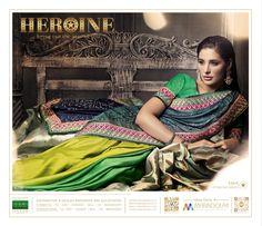 Nargis fakhri in dramatic collection Pakistani Designers, Bollywood Saree, Saree Wedding, Sarees, Romantic, Traditional, Bridal, Best Deals, Party