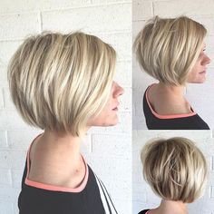 100 Mind-Blowing Short Hairstyles for Fine Hair, Frisuren, Layered Bronde Balayage Bob. Bob Hairstyles For Fine Hair, Haircuts For Fine Hair, Cool Hairstyles, Updos Hairstyle, Fringe Hairstyles, Black Hairstyles, Natural Hairstyles, Medium Hairstyles, Hairstyles Haircuts