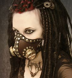 Diabolical Steampunk Leather Mask and Brass Cyber Mask by Obscuria Gothic Shop… Steampunk Cosplay, Steampunk Gas Mask, Steampunk Gears, Steampunk Circus, Steampunk Halloween, Steampunk Gadgets, Steampunk Corset, Victorian Steampunk, Steampunk Accessories