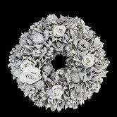 Found it at Wayfair - Rose and Walnut Shell Artificial Christmas Wreath