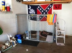 Garage dog kennel i would do it a little differently but for Dog kennel in garage ideas
