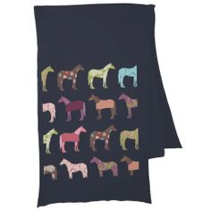 Colorful Horse Pattern Scarves
