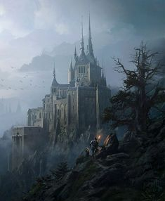 20 Ideas fantasy landscape art dreams castles for 2019 Fantasy Magic, Fantasy City, Fantasy Castle, Fantasy Places, High Fantasy, Medieval Fantasy, Fantasy World, Gothic Fantasy Art, Dream Fantasy