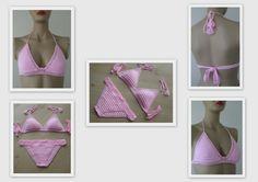 EXPRESS CARGO Powder Pink Crochet Bikini Crochet by formalhouse