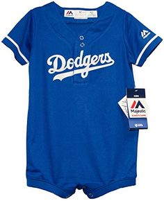 Majestic InfantToddler Los Angeles Dodgers Royal BlueWhite Romper 12 Months      Visit the image link more details. Baby Baseball Gear ecf475c18