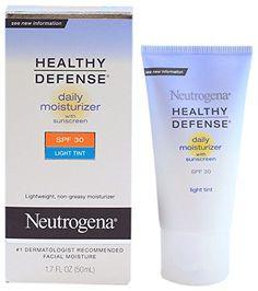 Neutrogena Healthy Defense Daily Moisturizer with Light Tint - SPF 30 1.7 Ounce Tube - CONTINUE @ http://www.sheamoistureproducts.com/store/neutrogena-healthy-defense-daily-moisturizer-with-light-tint-spf-30-1-7-ounce-tube/?c=8545