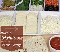 Pizza Fixins Bar Party Ideas